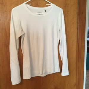 White long-sleeved tee